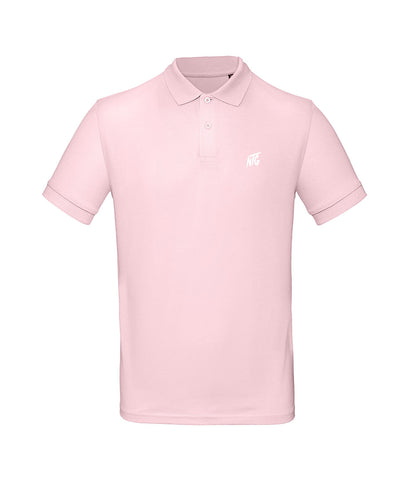 NTG DELUXE - STITCHED LOGO 2.0 POLO SHIRT PINK & WHITE (PRE-ORDER)