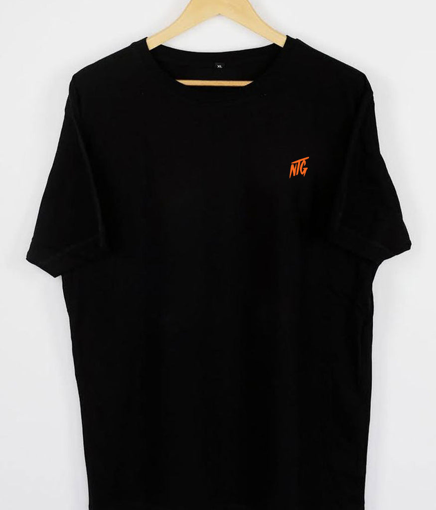 NTG DELUXE - STITCHED LOGO 2.0 SHIRT BLACK & ORANGE
