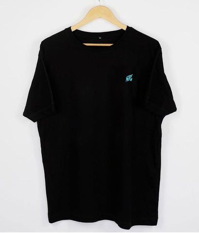 NTG DELUXE - STITCHED LOGO 2.0 SHIRT BLACK & TURQUOIS