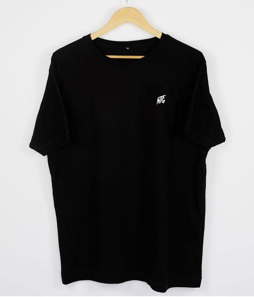 NTG DELUXE - STITCHED LOGO 2.0 SHIRT BLACK & WHITE