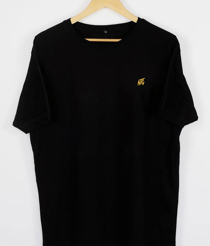 NTG DELUXE - STITCHED LOGO 2.0 SHIRT BLACK & YELLOW