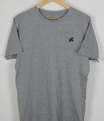 NTG DELUXE - STITCHED LOGO 2.0 SHIRT GREY & BLACK