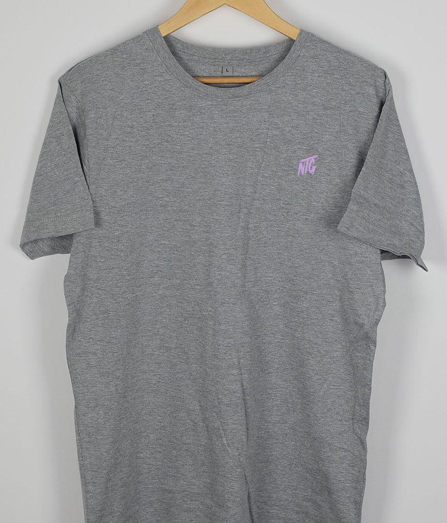 NTG DELUXE - STITCHED LOGO 2.0 SHIRT GREY & PURPLE