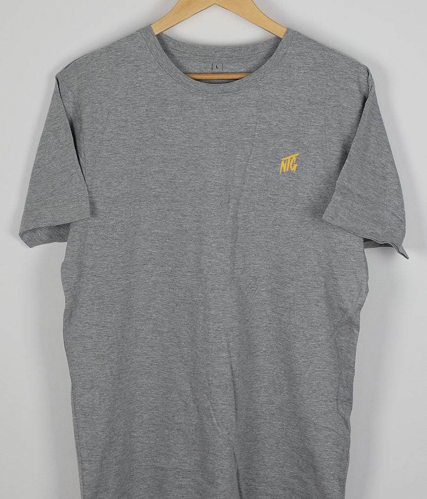 NTG DELUXE - STITCHED LOGO 2.0 SHIRT GREY & YELLOW (PRE-ORDER)