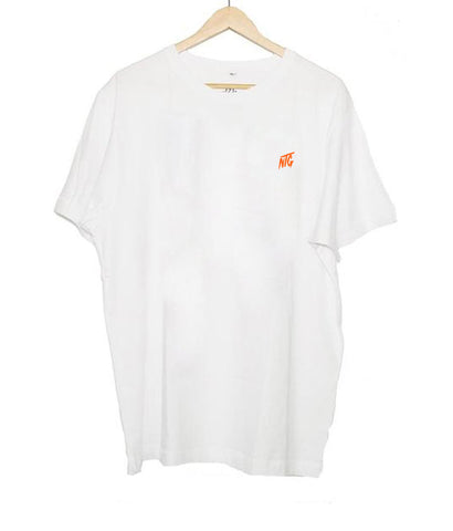 NTG DELUXE - STITCHED LOGO 2.0 SHIRT WHITE & ORANGE