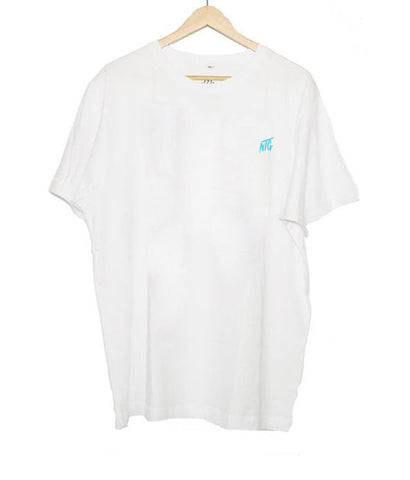 NTG DELUXE - STITCHED LOGO 2.0 SHIRT WHITE & TURQUOIS