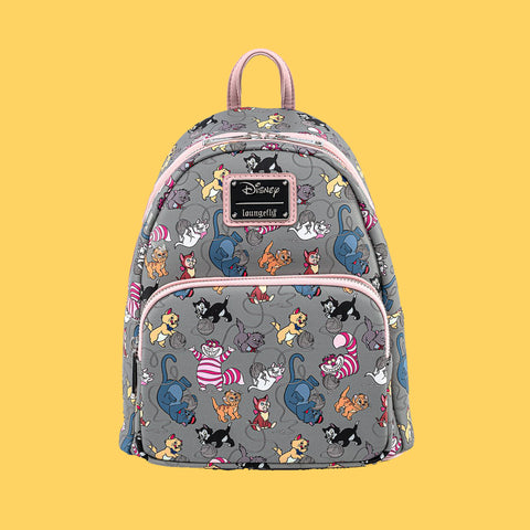 LOUNGEFLY x DISNEY - CATS ALL-OVER-PRINT MINI BACKPACK