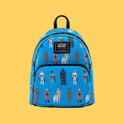 LOUNGEFLY - STAR WARS ACTION FIGURES MINI BACKPACK
