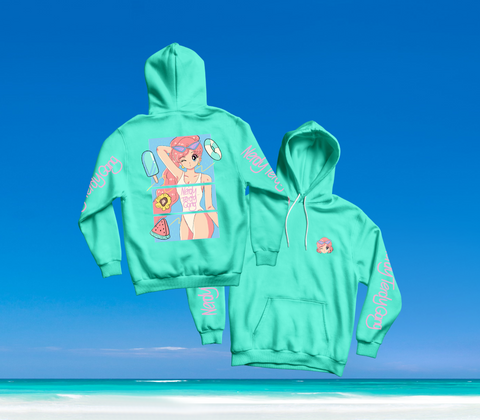 SUMMER IN OKINAWA - DAY AT THE BEACH HOODIE MINT (PRE-ORDER)
