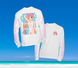 SUMMER IN OKINAWA - DAY AT THE BEACH LONGSLEEVE WEISS