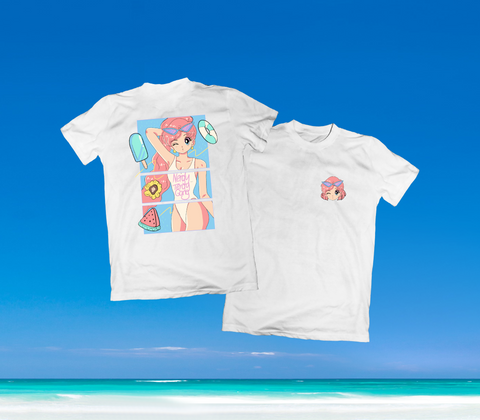 SUMMER IN OKINAWA - DAY AT THE BEACH SHIRT WEISS (PRE-ORDER)