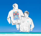 SUMMER IN OKINAWA - ICEY CAT HOODIE WEISS