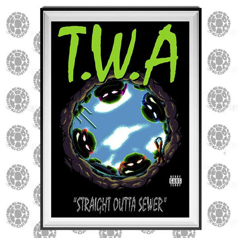 NERDY TERDY RECORDS - T.W.A. ART PRINT