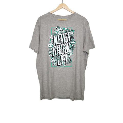 RADIO NUKULAR - NEVER GROW UP T-SHIRT GREY