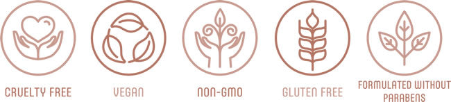 Cruelty Free - Vegan - Non-GMO - Gluten Free - Formulated Without Parabens
