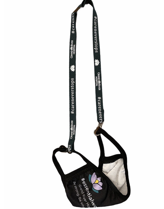 #careneverstops mask lanyard