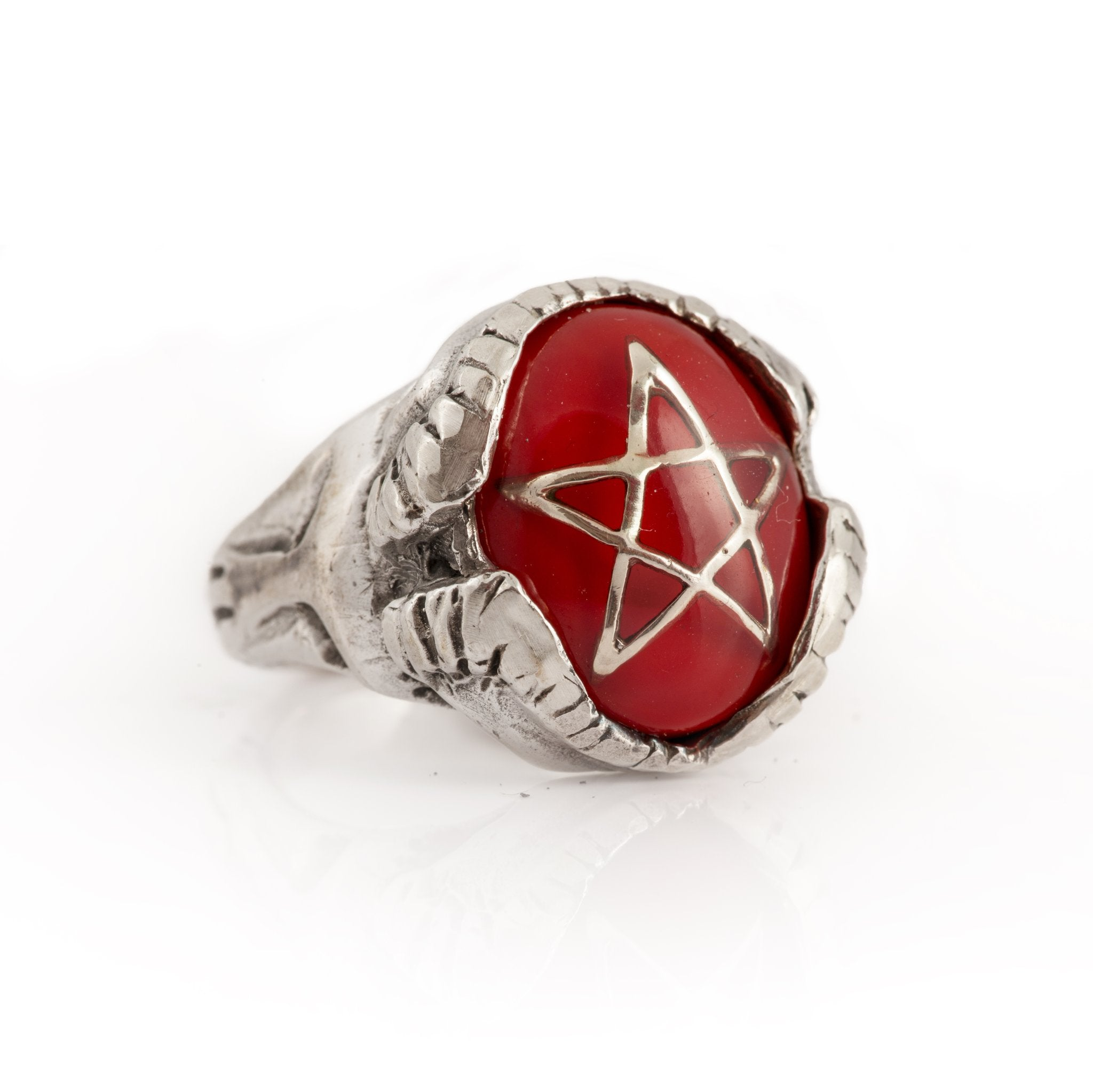 Ewaka Red Devil Heart Ring
