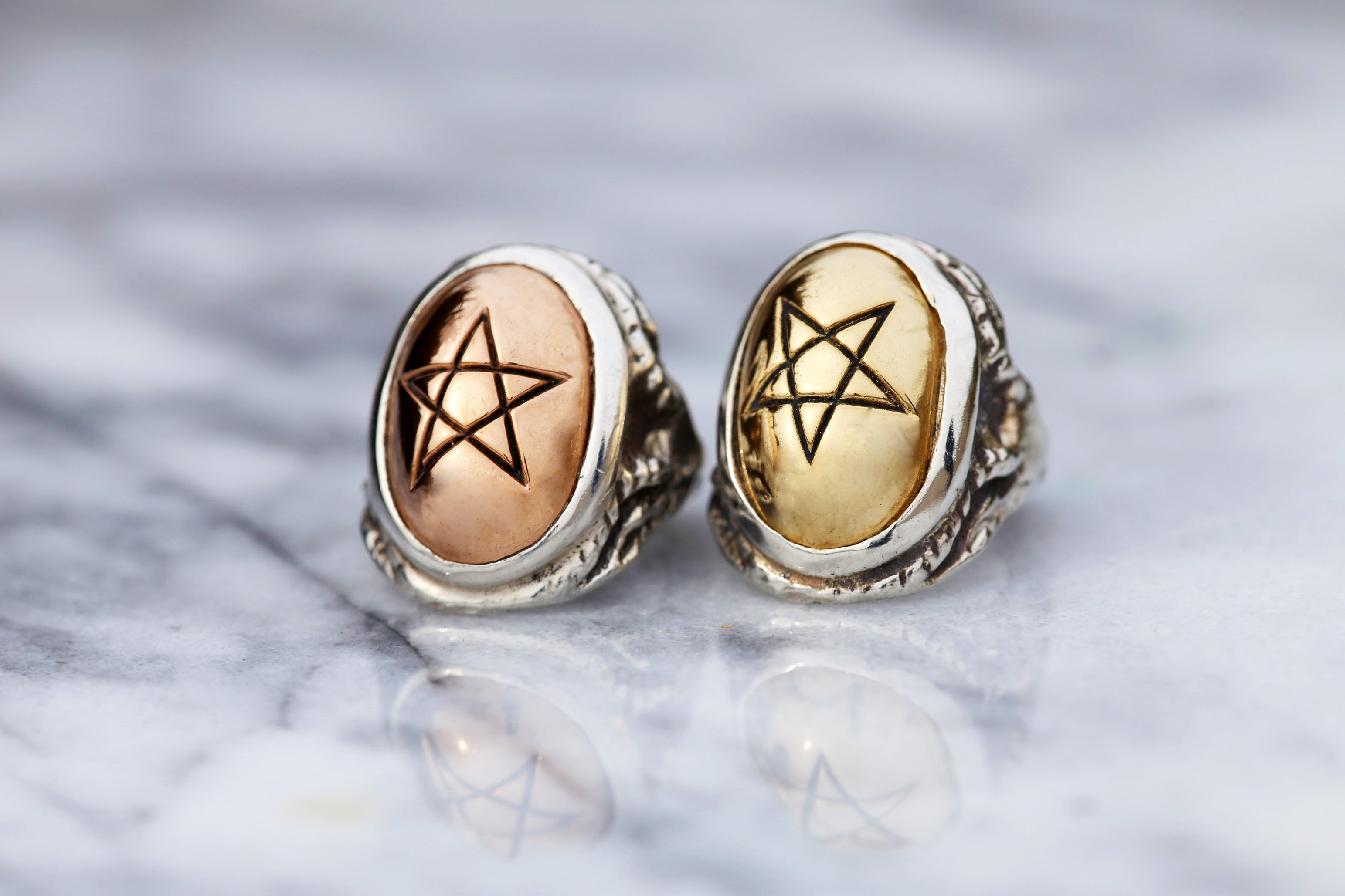 Rose Gold Angel Heart Ring