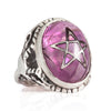 Lavender Crack Angel Heart Ring