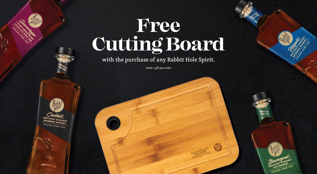 Free cutting board with any spirit purchase