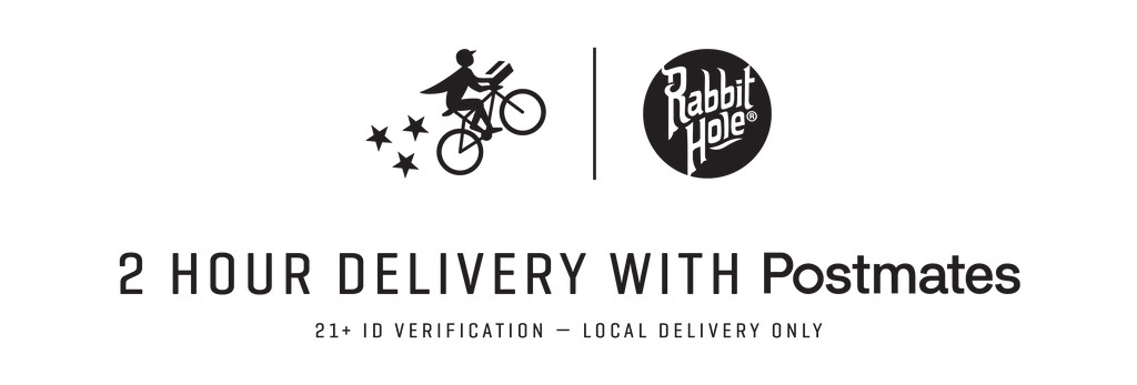 Postmates and Rabbit Hole logos