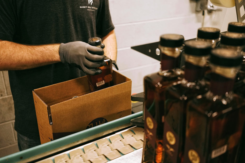 Rabbit Hole Bourbon being packed
