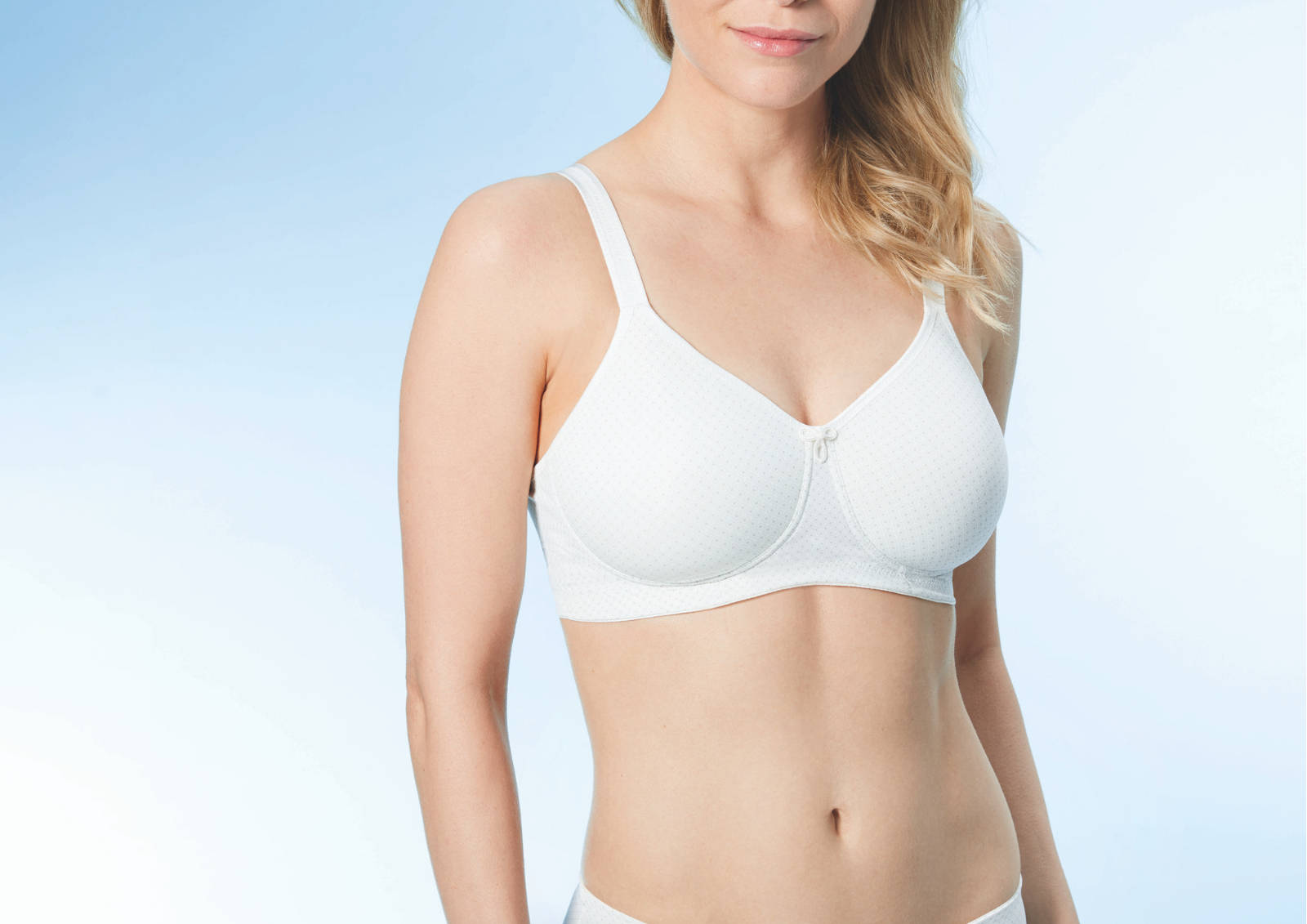Anna Pocketed - Wire Free - Mastectomy Bra - Pearl