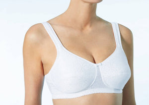 Bianca Pocketed - Wire Free - Mastectomy Bra - White