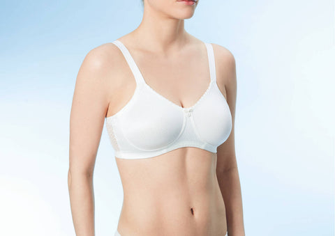 Eve Pocketed - Wire Free - Mastectomy Bra - Pearl