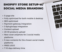 Load image into Gallery viewer, PLUS - SHOPIFY SETUP + SOCIAL MEDIA BRANDING