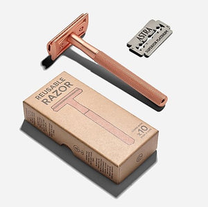 Reusable Rose Gold Razor