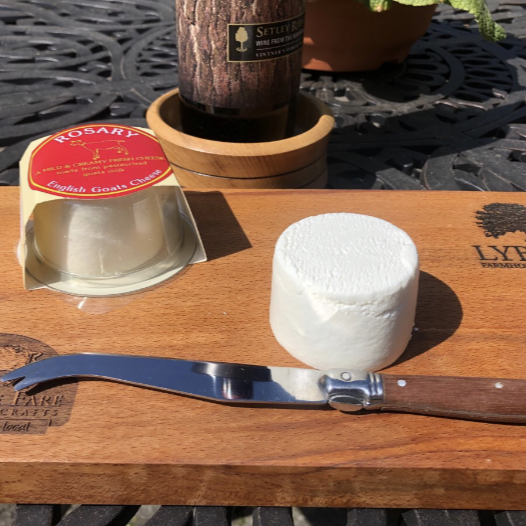Rosary Goats Cheese Button 100g