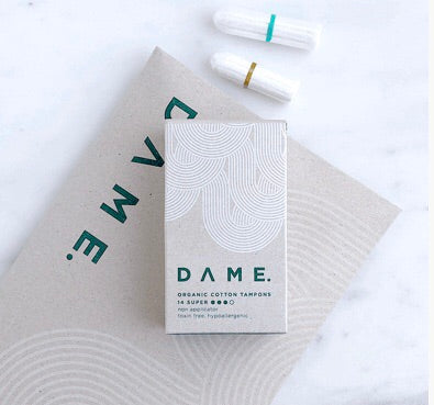 Tampons - organic and cotton from DAME