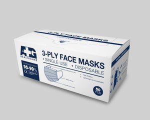 Single Use Disposable Three-Ply Protective Face Mask [EN14683:2019 and ISO13485:2016 certified with Added Protection of Fluid Resistance 120mmHg]