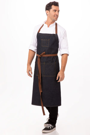 Chef Works Denim Memphis Indgio Bib Apron