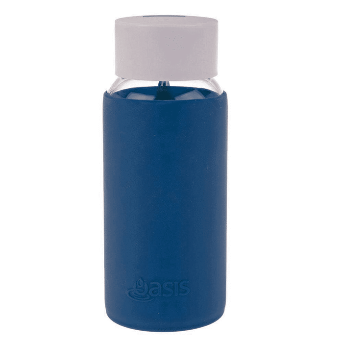 Oasis Glass Bottle 500ml - Navy