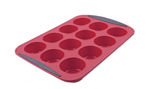 Daily Bake Silicone 12 Cup Muffin Pan