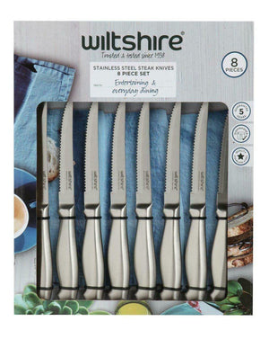 Wiltshire 8pc Steak Knife Set - everything kitchen