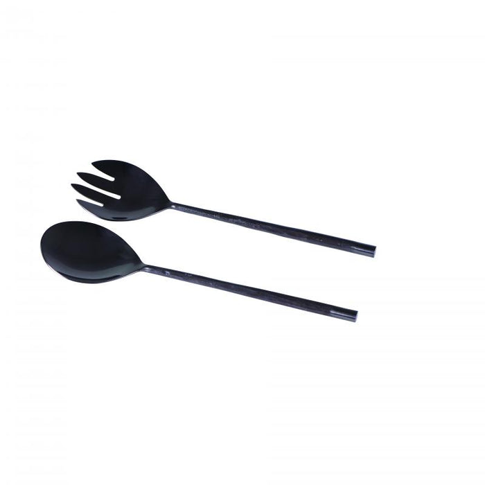 Wilkie Brothers Twist Salad Servers - Black