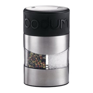 Bodum Twin Salt and Pepper Grinder S/S + Black