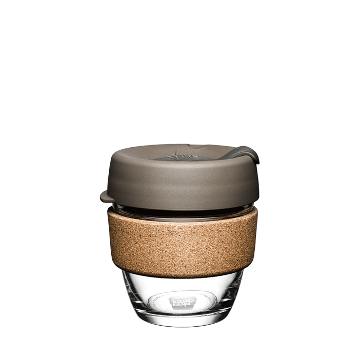 Keep Cup Brew Cork 8oz - Latte (Brown/Charcoal)