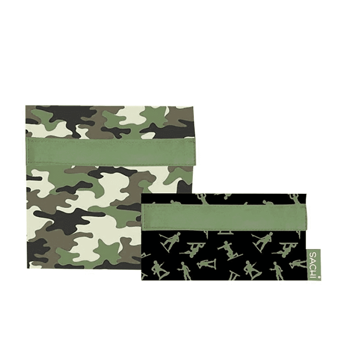 Sachi Lunch Pockets - Camo Green