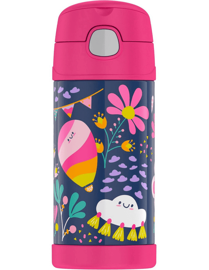 Thermos 355ml Bottle Whimsical Clouds