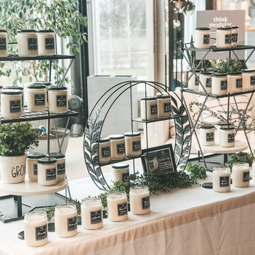 Light My Candle Co Handmade Soy Candles On Display At West Elm