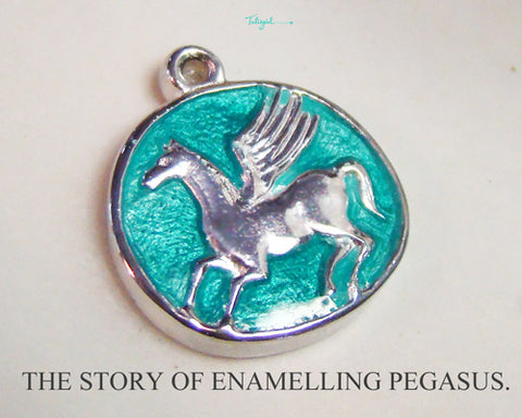 Enamelling Pegasus: The picture Story_Talisgirl Charms