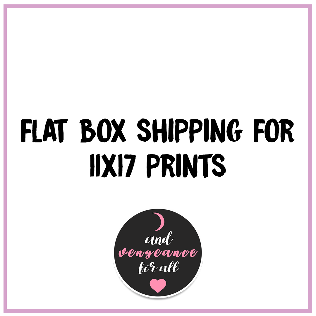 Shipping Upgrade for 11x17 Prints