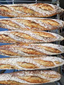 Sourdough Baguettes (sold in pairs, £3 for 2)