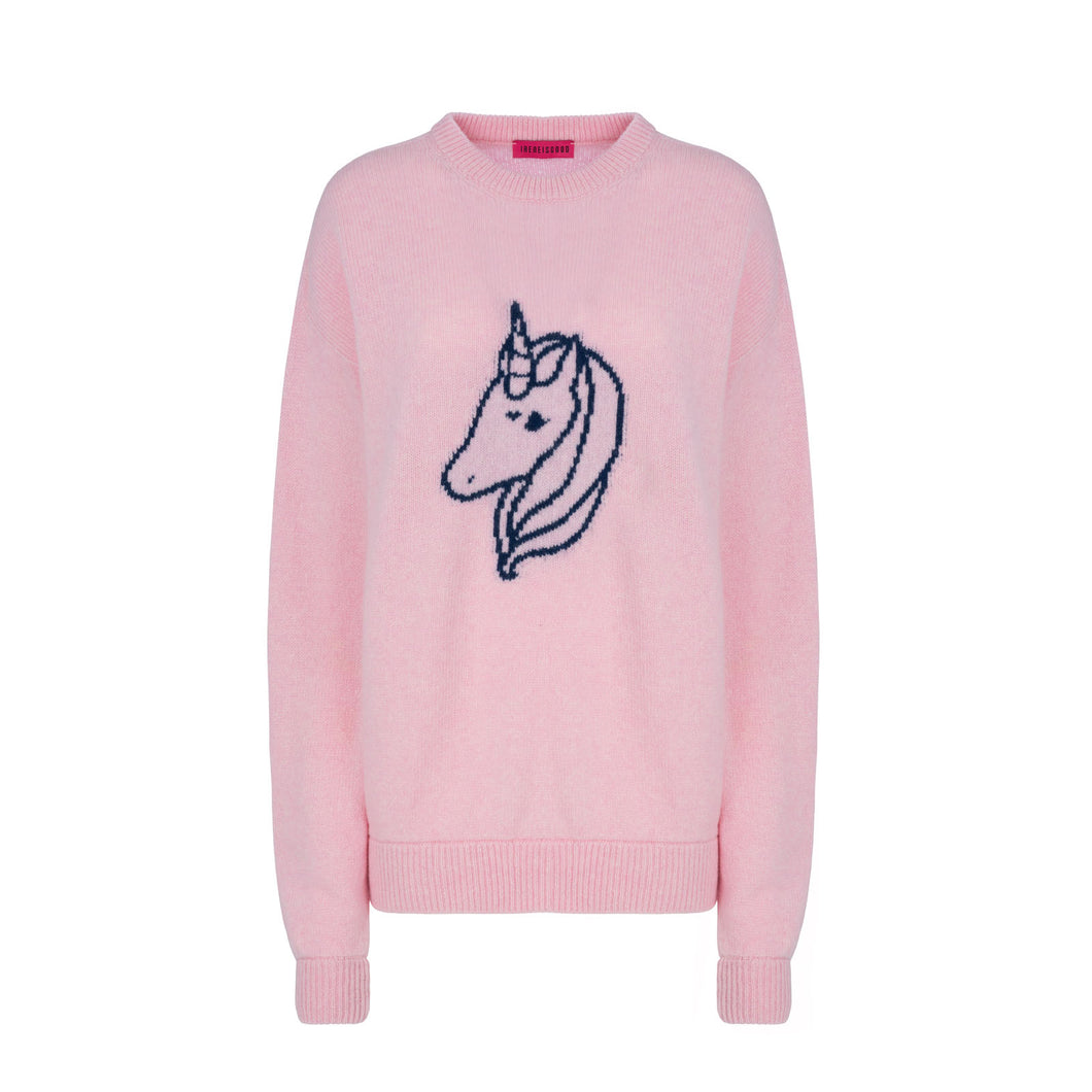 PINK LOGO SWEATER