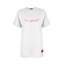 Load image into Gallery viewer, WHITE YOU GOOD / I'M GOOD T-SHIRT Pink Details