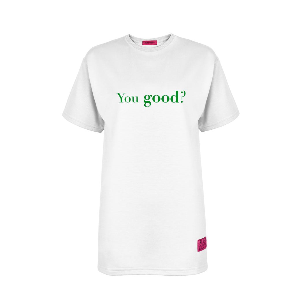 WHITE YOU GOOD / I'M GOOD T-SHIRT Green Details